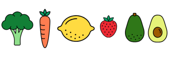 Fruits and veggies graphics