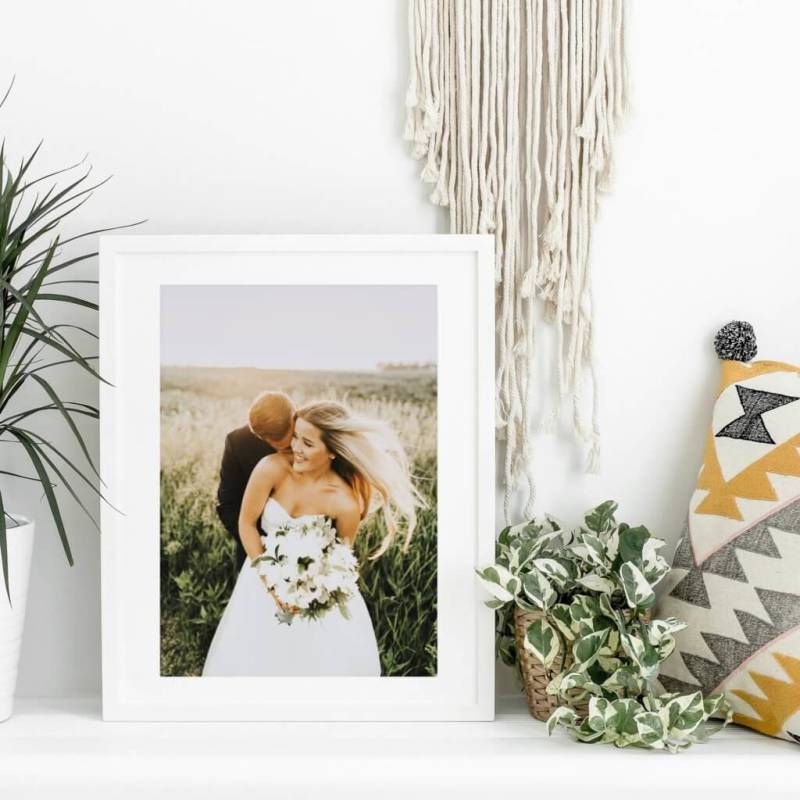 Framed photos are a great way to decorate your home.