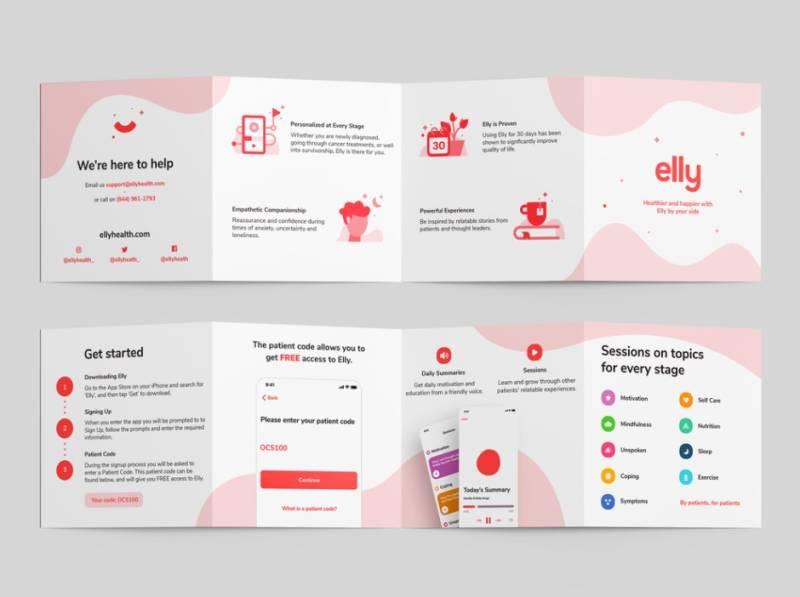 Elly Health Brochure Design Example
