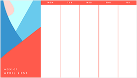 bright-work-week-calendar-template