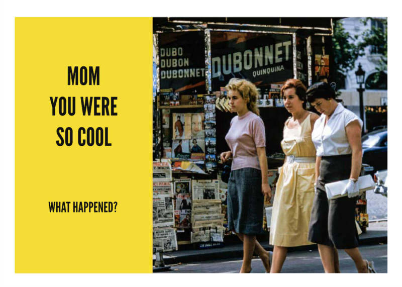This Mother's Day card shows your mom back in her heyday.
