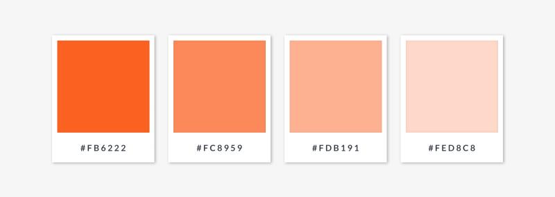monochromatic palette - oranges