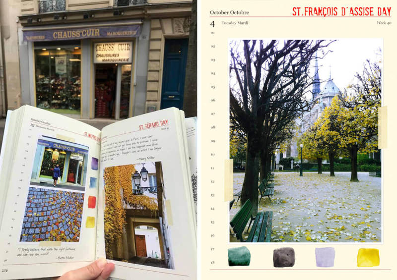 Janice shows published book A Paris Year, in France