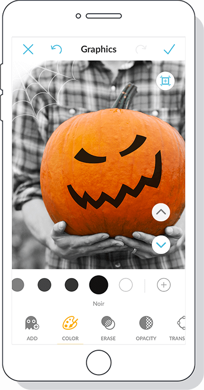 PicMonkey's Halloween stickers can add fright and delight to your designs.