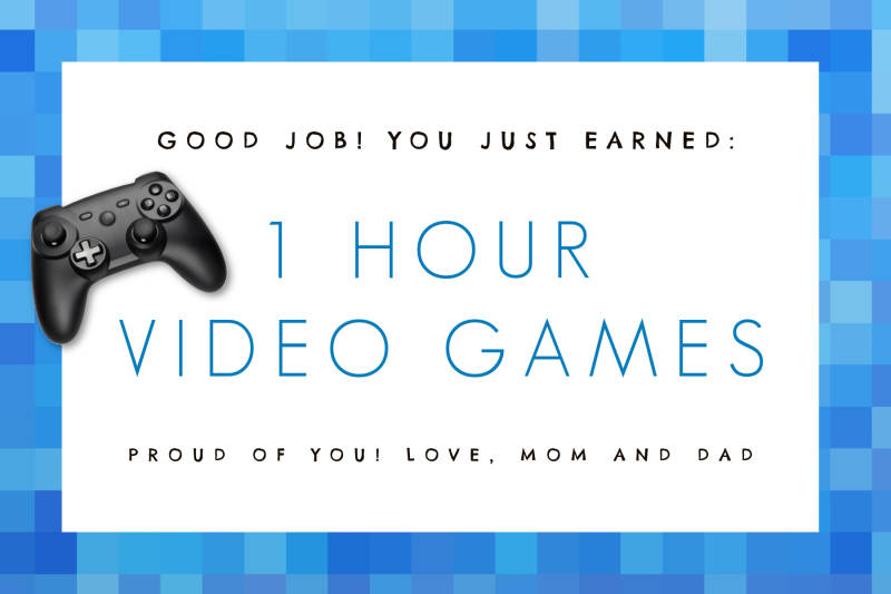 homeschool projects -- video games award certificate