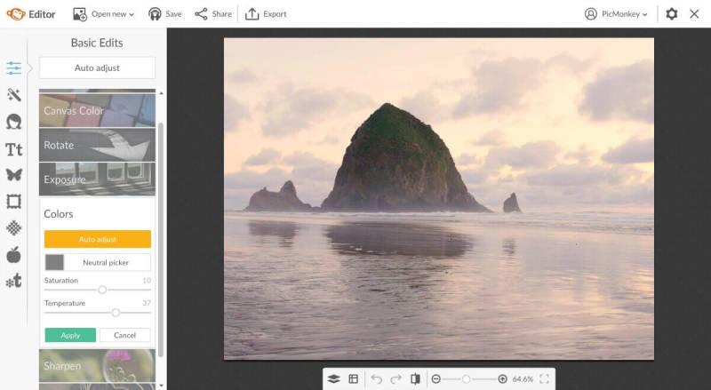 edit pictures background, adjust color, saturation