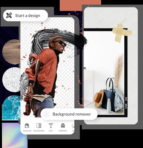 aplicación móvil picmonkey aplicación de diseño gráfico