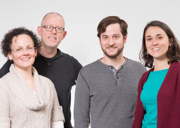 PicMonkey staffers posed for a group portrait before editing.