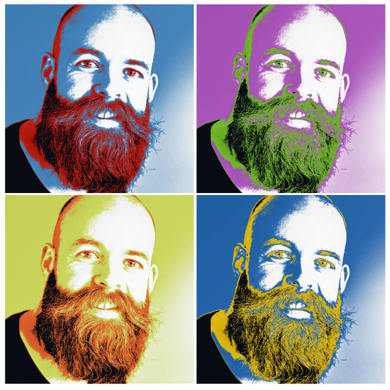 Use the Warhol effect to get a pop art look