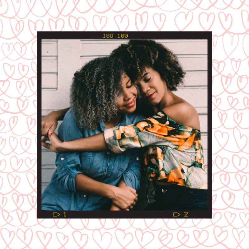 frame mom and daughter galentines card