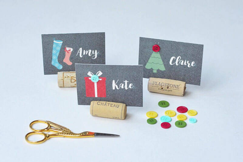 These adorable Christmas place cards were designed and made by a PicMonkey user.