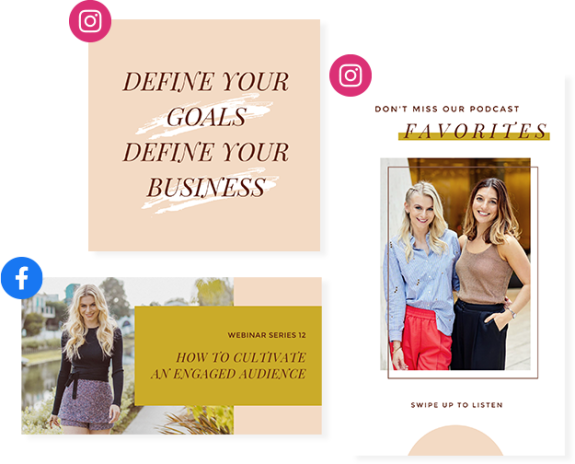 BossBabe and PicMonkey Design and Social Templates