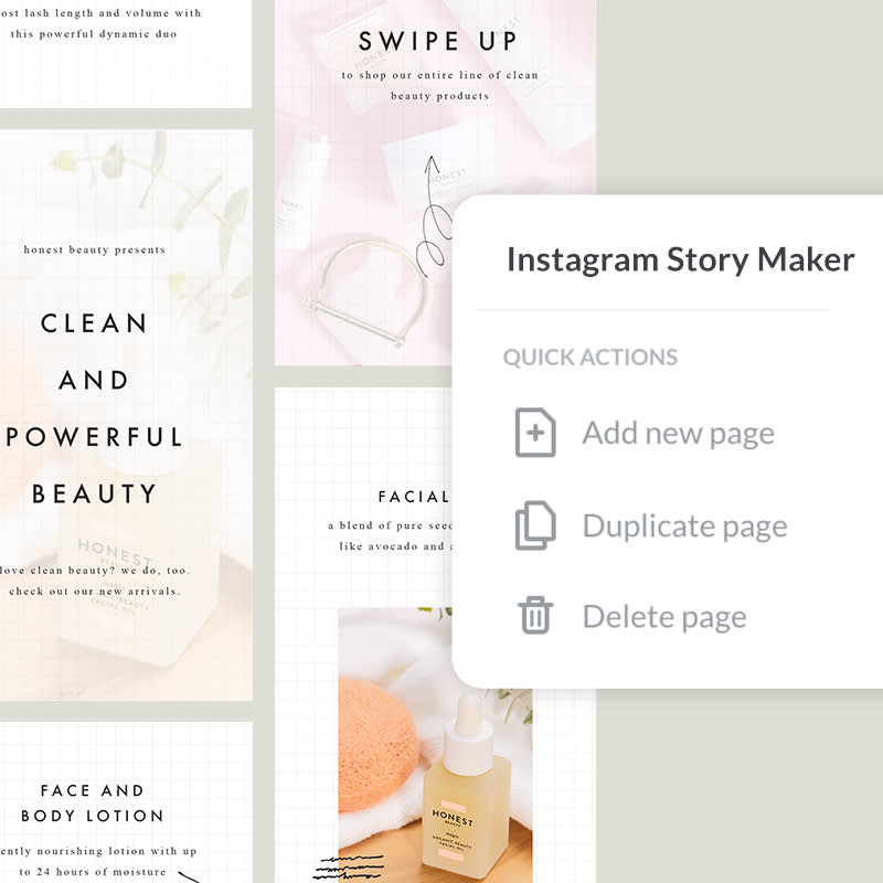 Create multi-slide Instagram Stories with PicMonkey's easy-to-use tools and templates