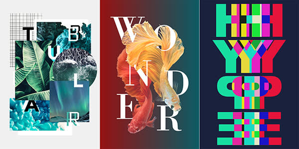 Ruined text, fractured text, and other ways of experimenting with text are graphic design trends in 2018.