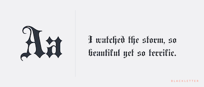 Blackletter preview