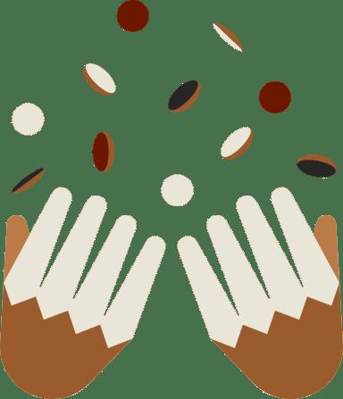 Confetti & Hands