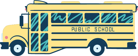 Drawn School Bus Side