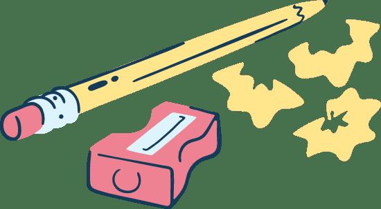 Drawn Sharp Pencil