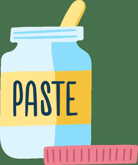 Drawn Paste Pot