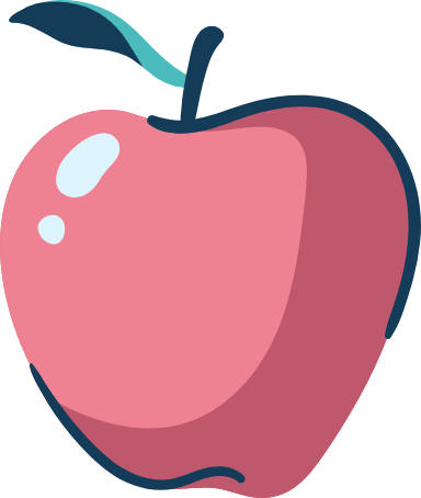 Drawn Shiny Apple