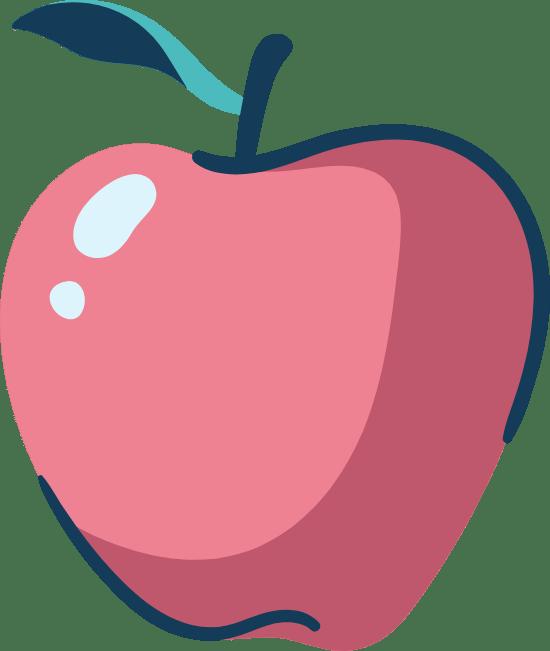 Drawn Shiny Apple