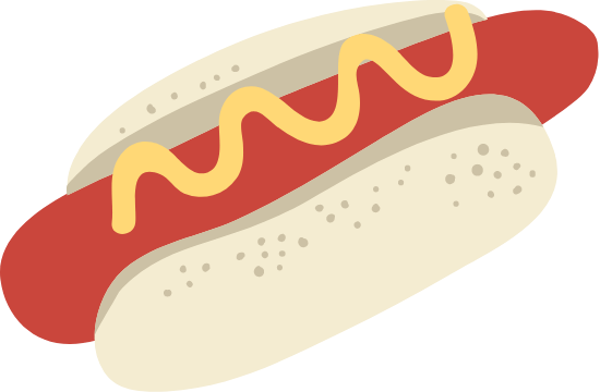 Hot Dog & Mustard