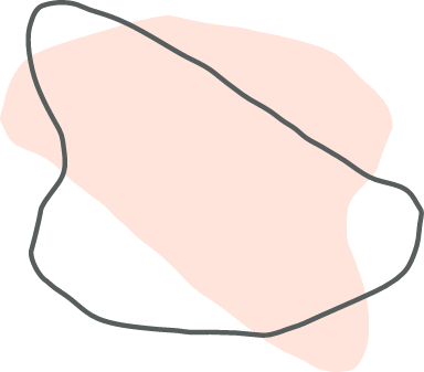 Pink Curved Shape