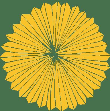 Golden Paper Lantern