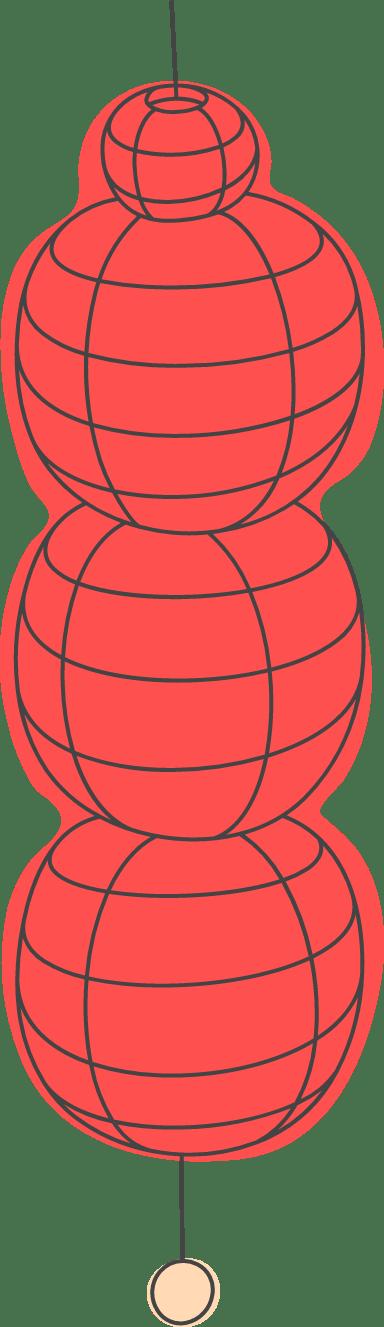 Elongated Paper Lantern