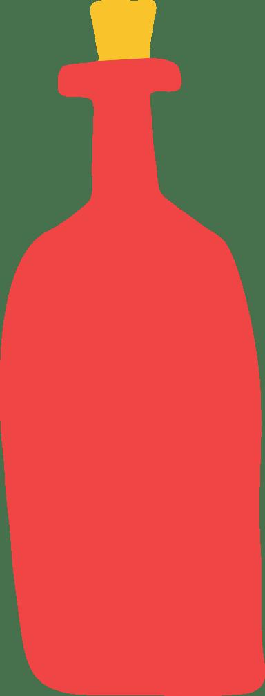 Corked Wine Bottle