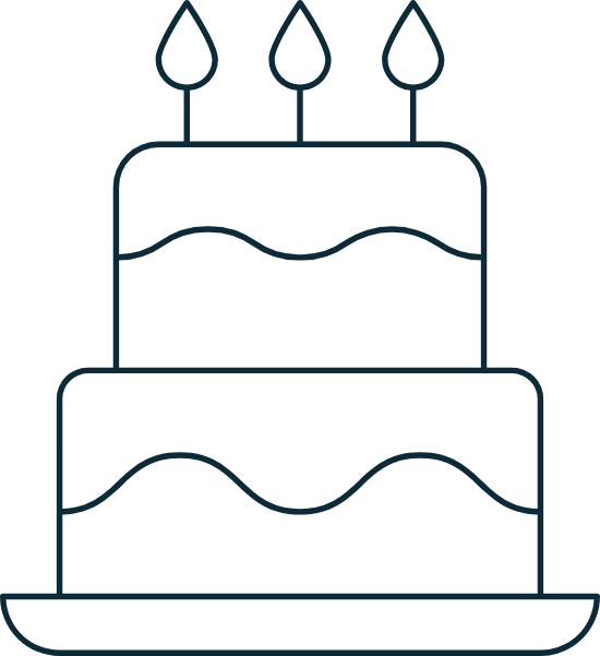 Sparse Tall Birthday Cake