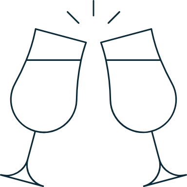 Sparse Wine Toast
