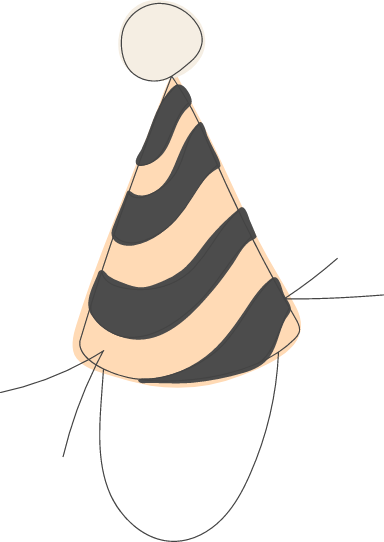 Wavy Party Hat