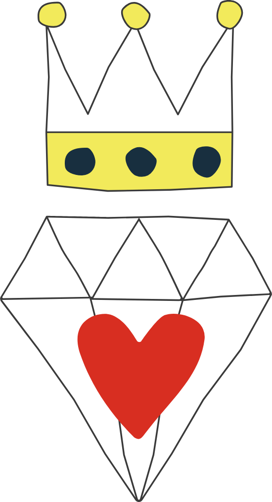 Diamond Heart Crown