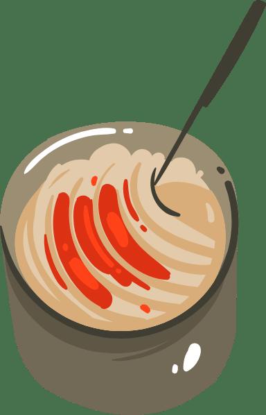 Sauce Pan & Spoon