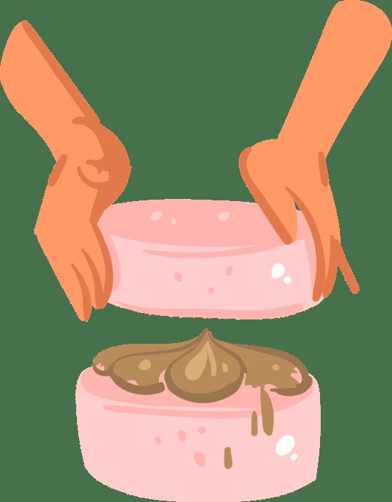 Layering A Cake