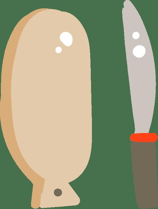 Cutting Board & Knife