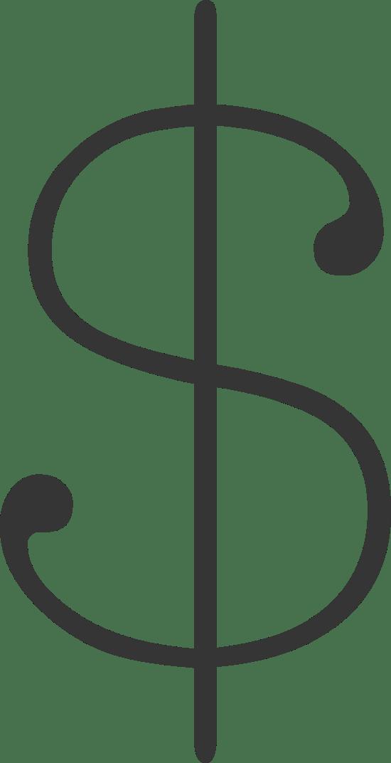 Typewriter Dollar Sign