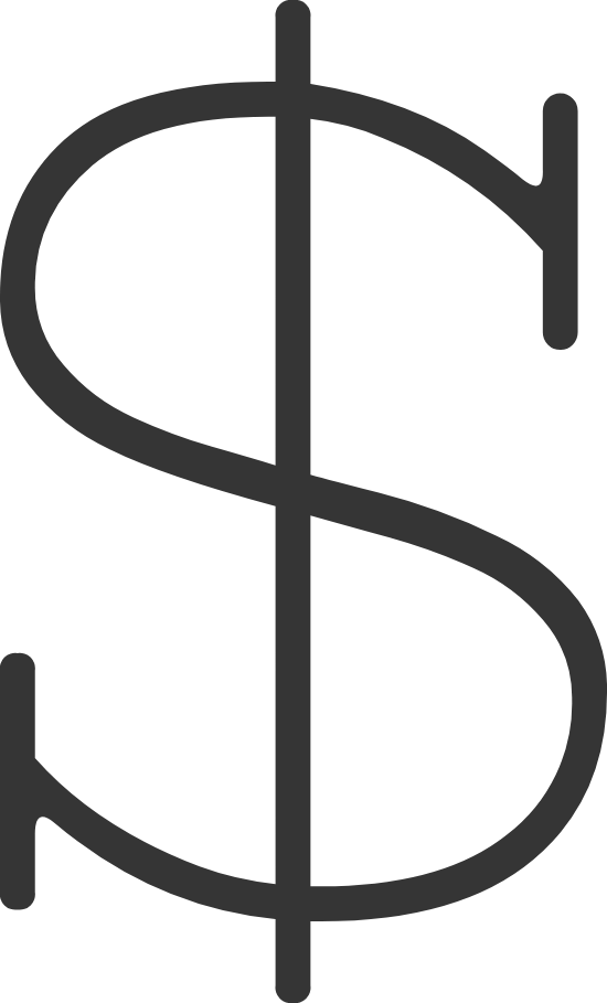 Serif Dollar Sign