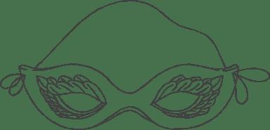 Chalky Cat Eye Mask
