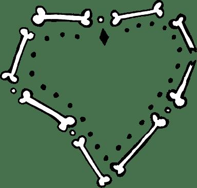 Festive Bone Heart