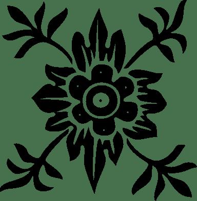 Corner Floral Flourish