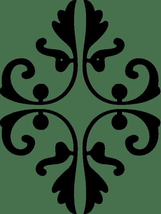 Oval Floral Flourish