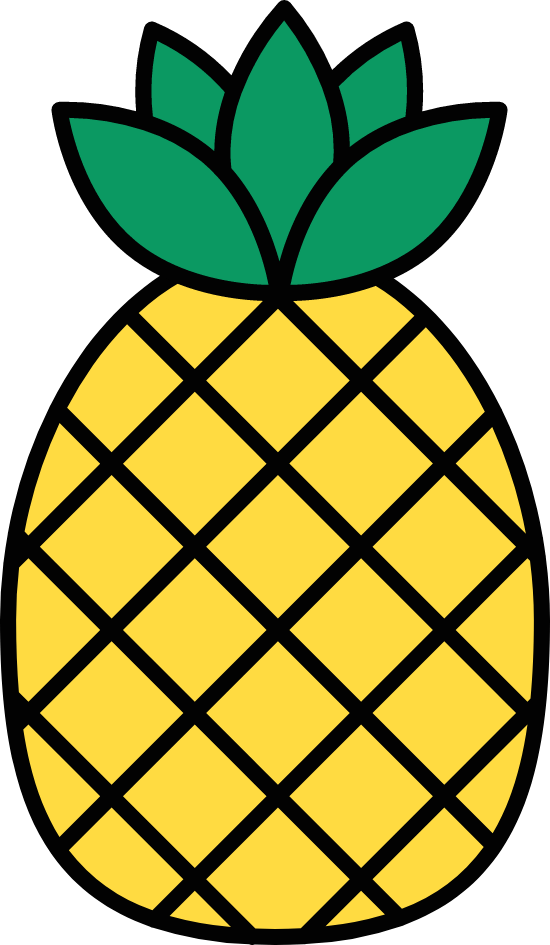 Outlined Pineapple