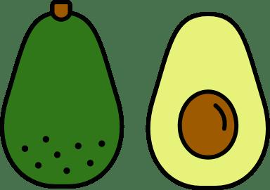 Outlined Avocado