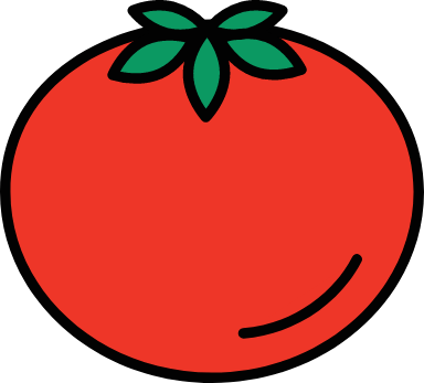 Outlined Tomato