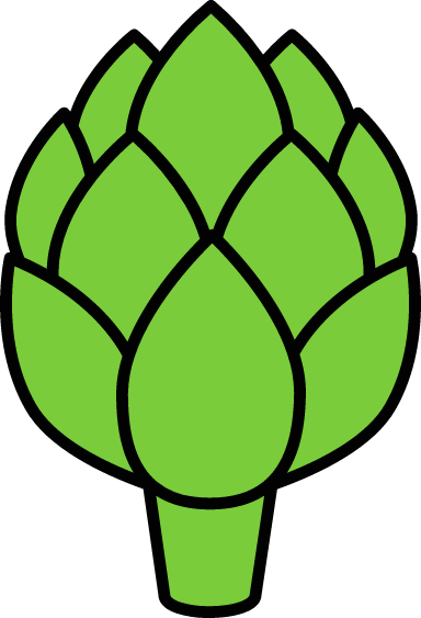 Outlined Artichoke