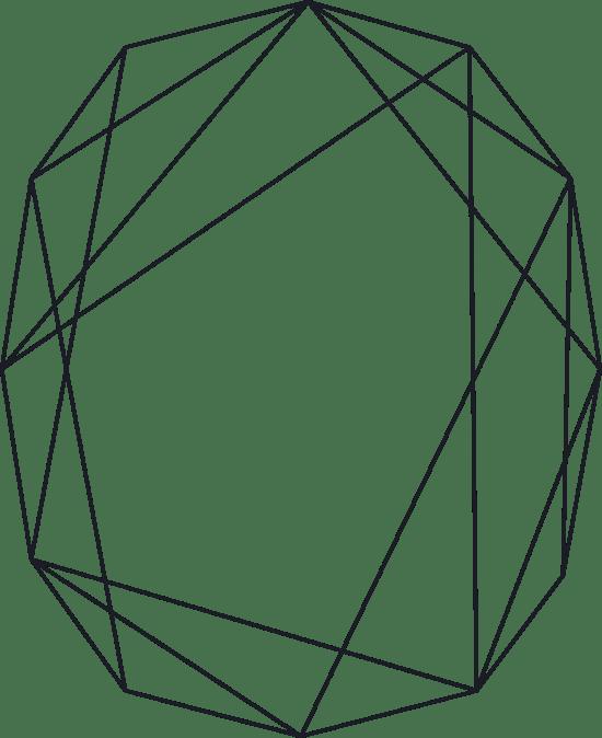 Faceted Line Frame