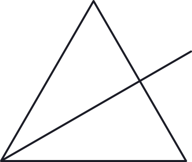 Split Triangle Glyph