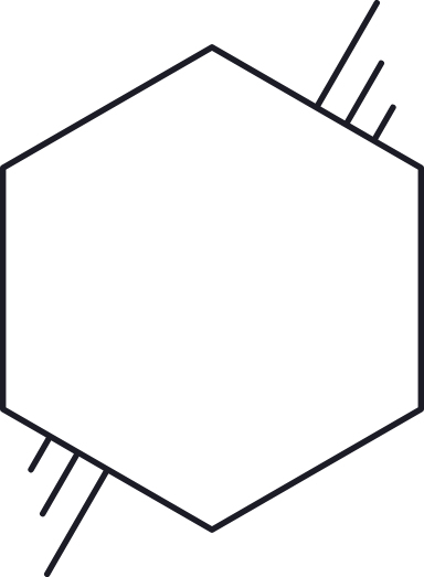 Hashed Hexagon Glyph